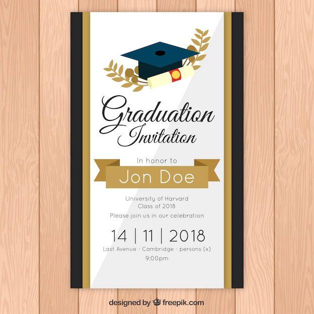invitacion de graduacion para editar