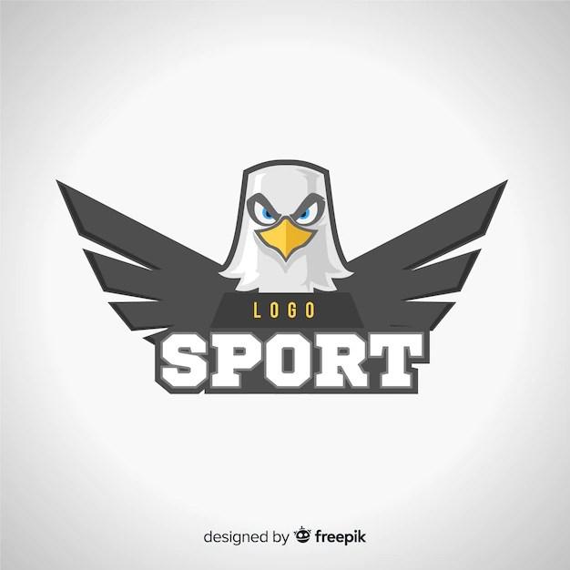 Plantilla moderna de logo de deportes con águila | Vector ...