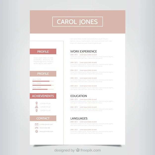 Plantilla Simple Profesional De Curriculum Descargar