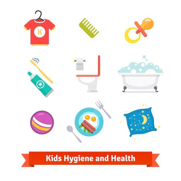 Salud e higiene infantil  Descargar Vectores gratis