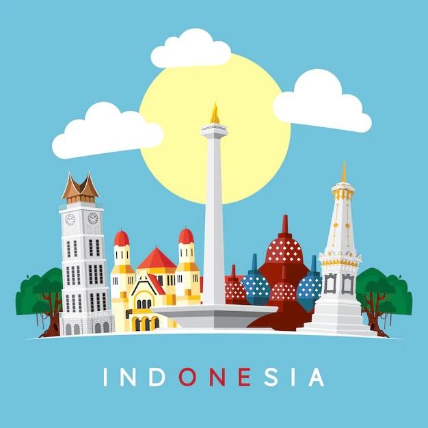 Seal de indonesia  Descargar Vectores Premium