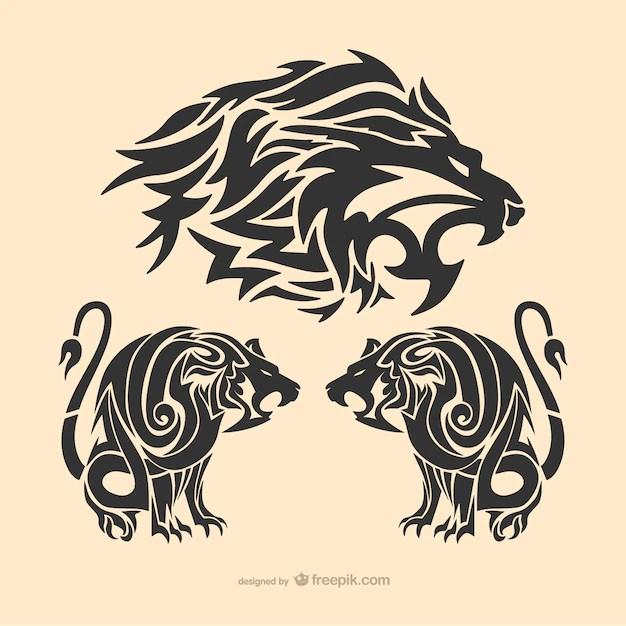 Leon Tattoo Fotos Y Vectores Gratis