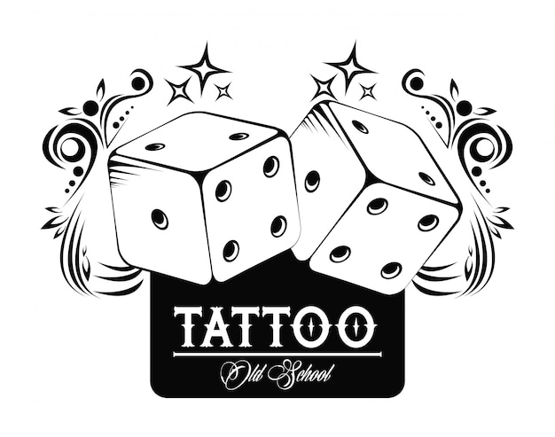 Tatuaje De La Vieja Escuela Con Diseño De Dibujo Dados Descargar