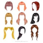 peluca mujer fotos vectores