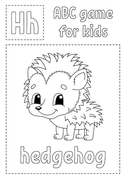 Abc-spiel für kinder alphabet malvorlagen