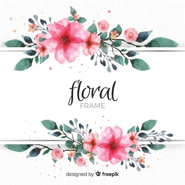Blumenrahmen  Download der kostenlosen Vektor
