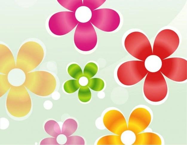 Bunte BlumenVektorGrafik  Download der kostenlosen Vektor