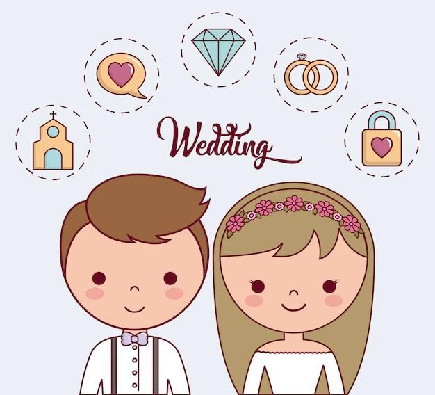 Cartoon Hochzeit Best Kuss Hochzeit Baby Engel Malerei
