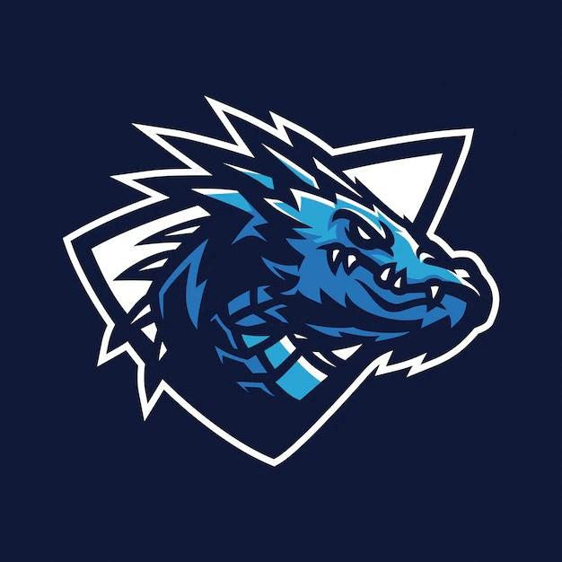 Drachen esports gaming maskottchen logo vorlage  Download