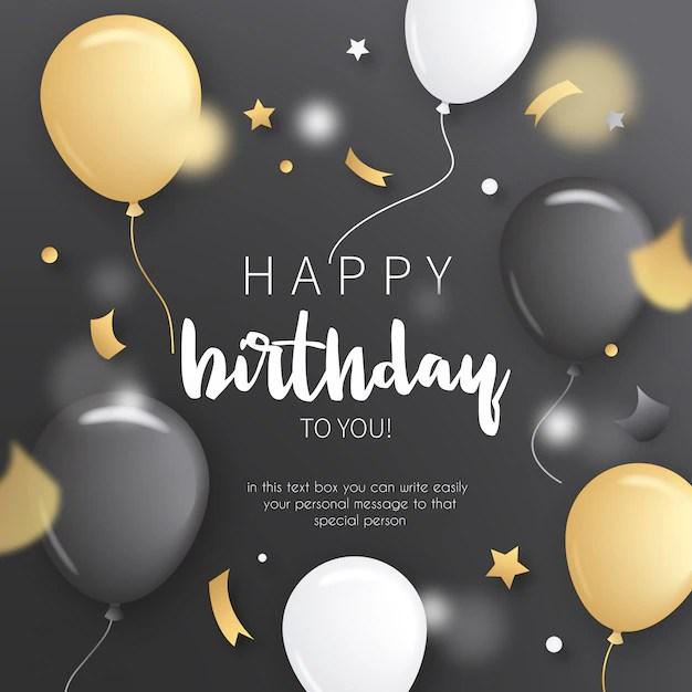 Geburtstags Einladung Mit Goldenen Ballonen Download Der