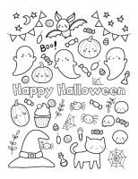 Happy halloween malvorlagen für kinder   Premium Vektor