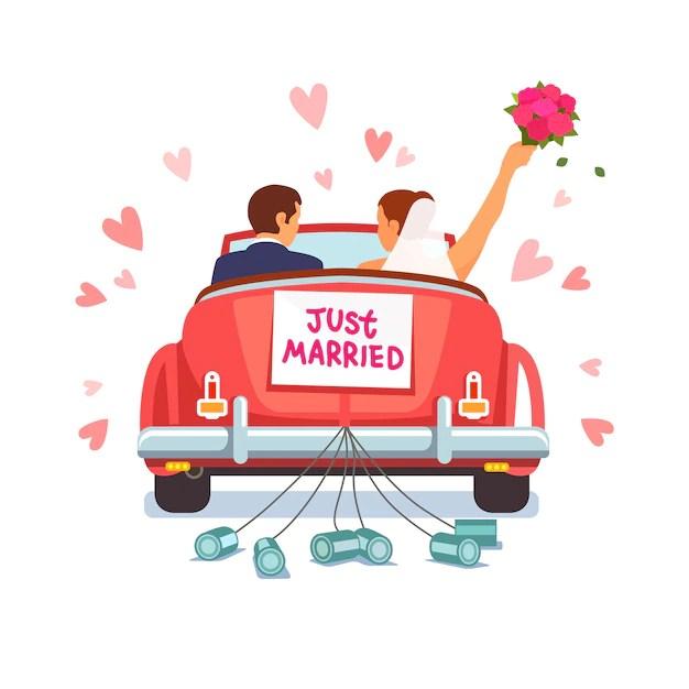 Hochzeit Auto Vektoren Fotos und PSD Dateien