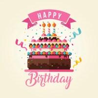 Kuchen Thema Happy Birthday Card Illustration | Download ...