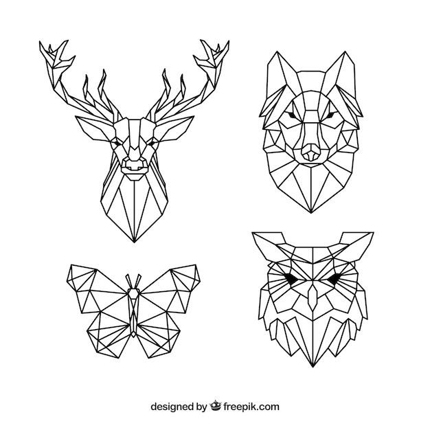 Polygon Tiere Vektoren, Fotos und PSD Dateien