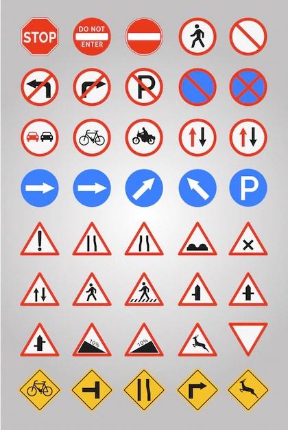 Verkehrszeichen Symbol Sammlung Download der kostenlosen