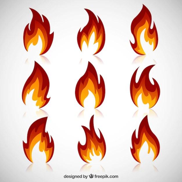 Flamme Malvorlage