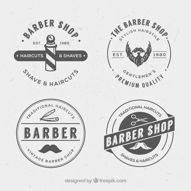 WeinleseFriseur Logos  Download der kostenlosen Vektor