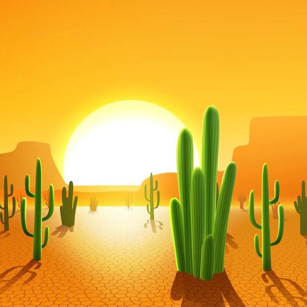 Cactos no deserto  Baixar vetores grtis