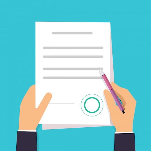 Ilustração de documento, contrato, plano de parto