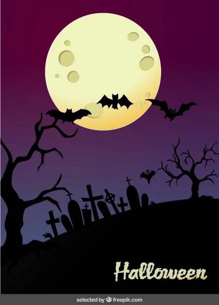 Halloween cemitrio paisagem  Baixar vetores grtis