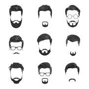 hipster hair moustaches barbas