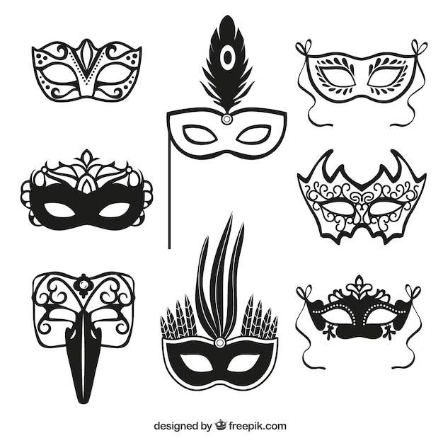 Cones Mscara Do Carnaval Baixar Vetores Grtis