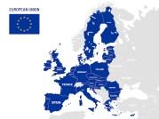 Mapa de países da união europeia. nomes de países membros da ue, ilustração  de mapas de localização da terra da europa   Vetor Premium