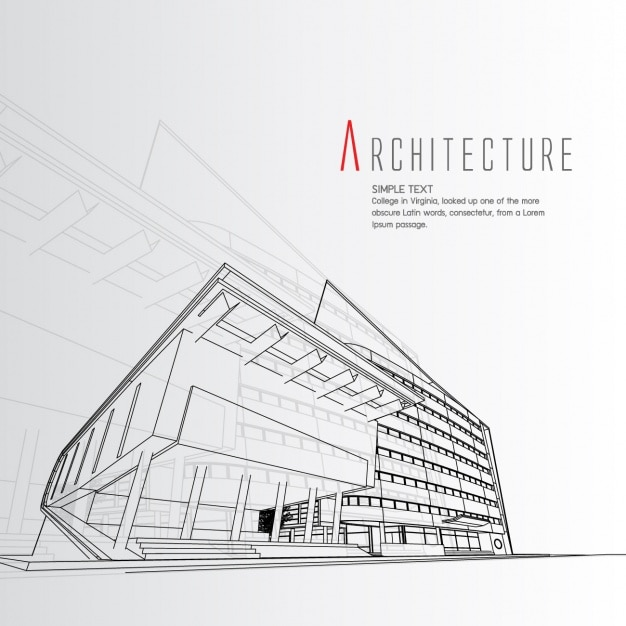 Projeto De Arquitetura De Fundo Baixar Vetores Grátis