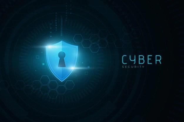 Segurança cibernética com conceito de bloqueio digital Vetor grátis