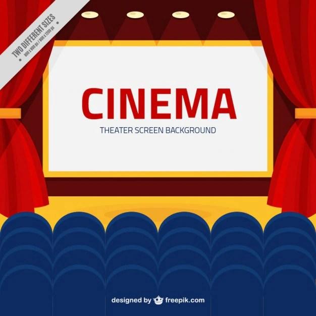 Tela de cinema com o azul poltronas fundo  Baixar vetores