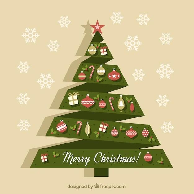 Carta Origami Albero Di Natale Con Decorazioni Scaricare