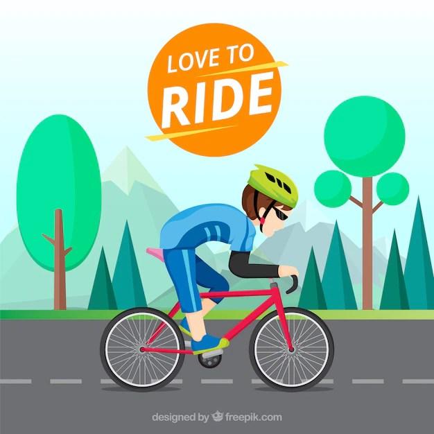 Ciclista professionista con disegno piatto  Scaricare
