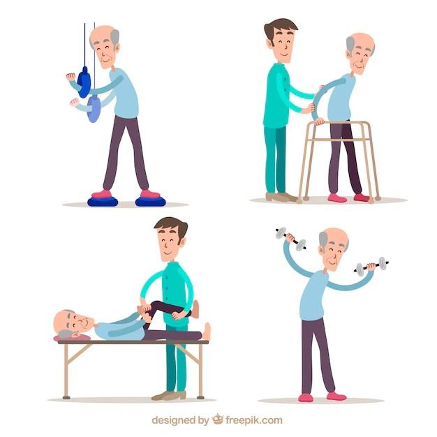 Raccolta a mano di esercizi di fisioterapia  Scaricare