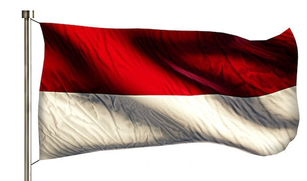 Indonesi monaco nationale vlag gesoleerde 3d witte
