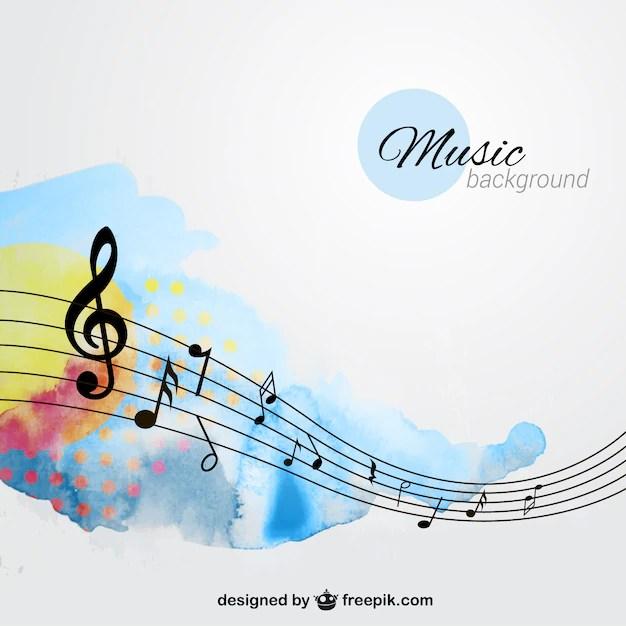 Hand beschilderde achtergrond muziek Vector  Gratis Download