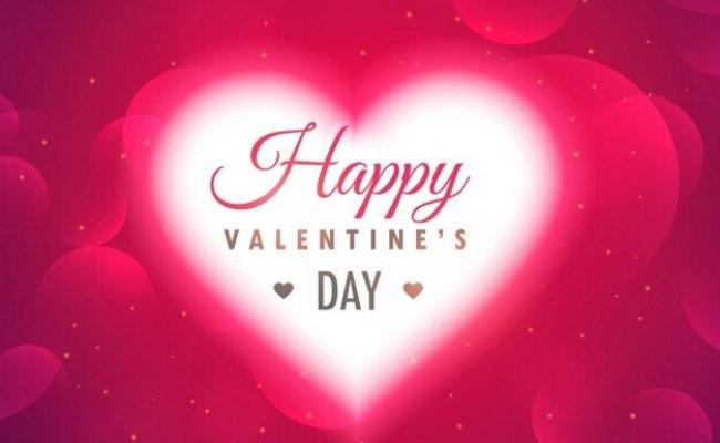 Mooie Gloeiende Hart Op Roze Achtergrond Voor