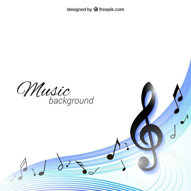 Muziek achtergrond Vector  Gratis Download