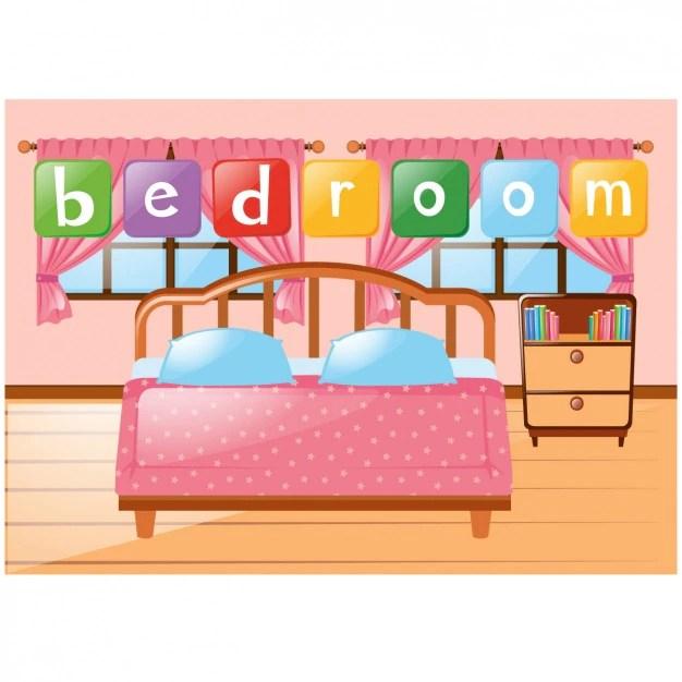 Slaapkamer achtergrond ontwerp Vector  Gratis Download