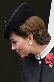 Duchess Catherine's intricately pinned-up hair caught everyone's attention.