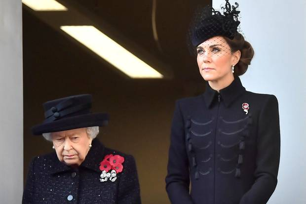 Queen Elizabeth and Duchess Kate together at the