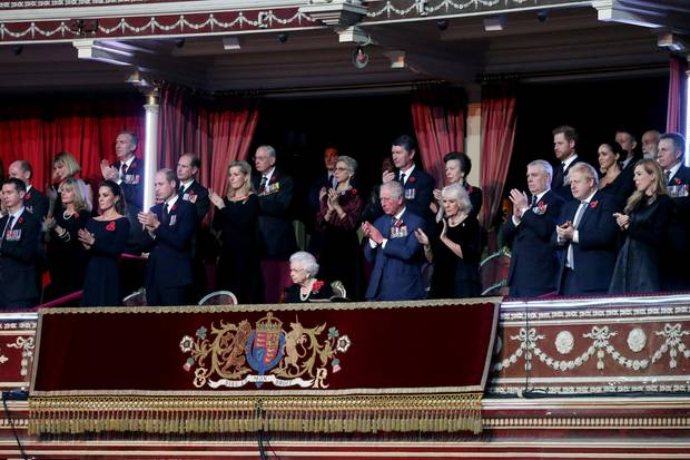 The British royal family in the Royal Albert Hall at the annual