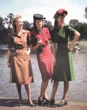 1940s women's fashion dress