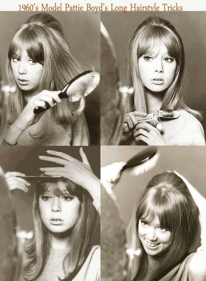 1960's hairstyles for long hair - pattie boyd. | glamour daze