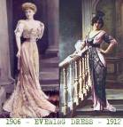 1900 Fashion Women Evening Dresses