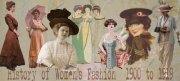 history of womens fashion - 1900