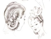 1940s hairstyles - sidesweep
