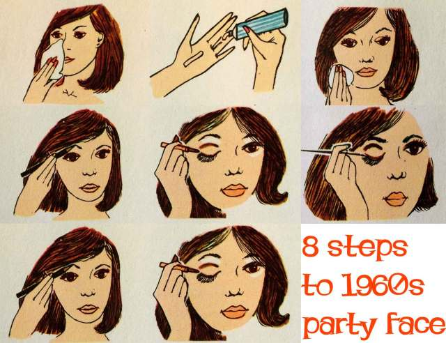 1960s makeup - eight steps to a party face | glamour daze