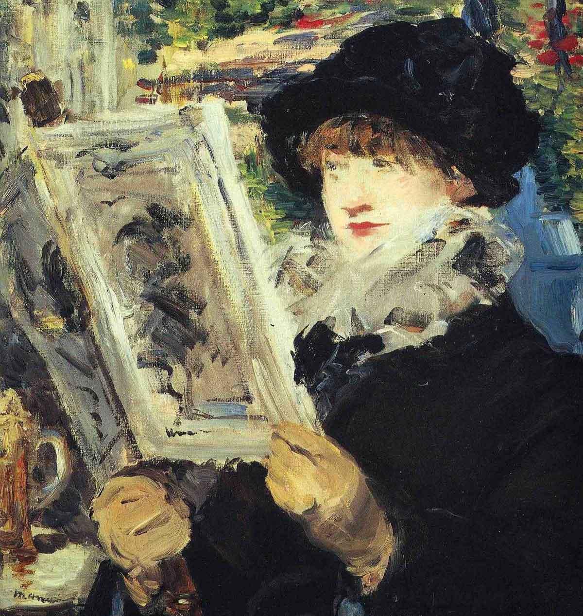 1879--Edouard-Manet,-Woman-Reading---Cafe-de-Flore-Paris