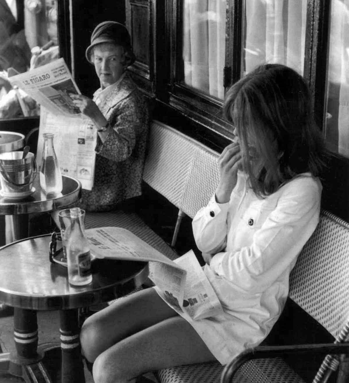 1969--Brasserie-Lipp,-Photo-by-Henri-Cartier-Bresson,-Paris