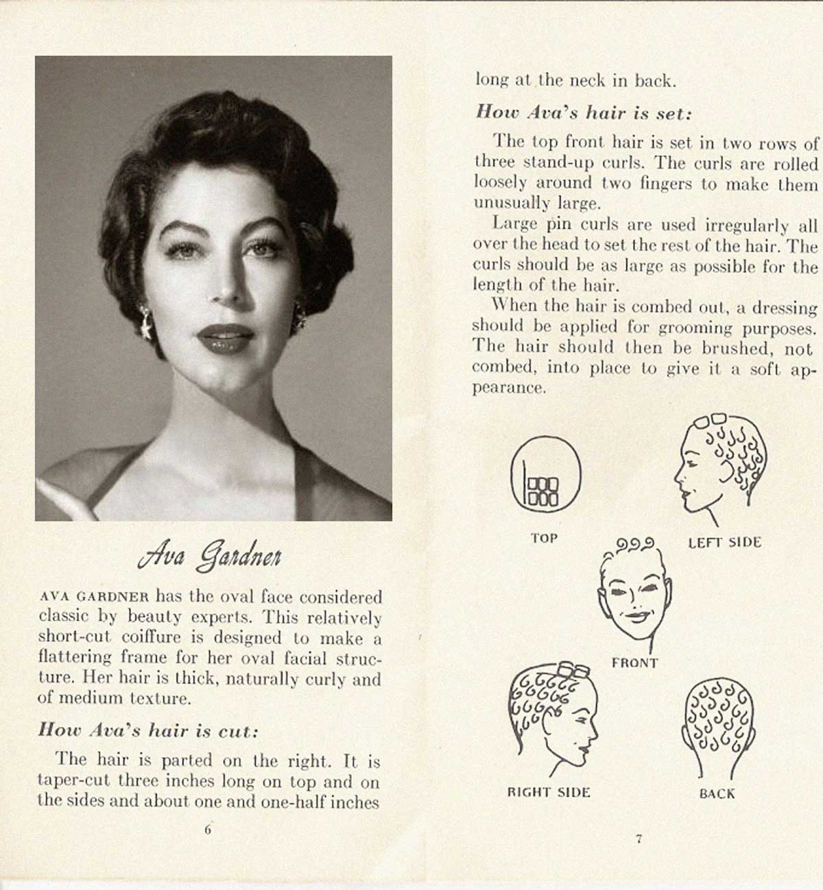 pin curl diagram 97 jeep wrangler fuse box 10 hollywood hairstyles of the 50s glamour daze 5 how to achieve ava gardner hairstyle